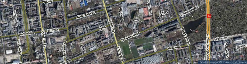 Zdjęcie satelitarne Park Kilińskiego Jana, płk. park.