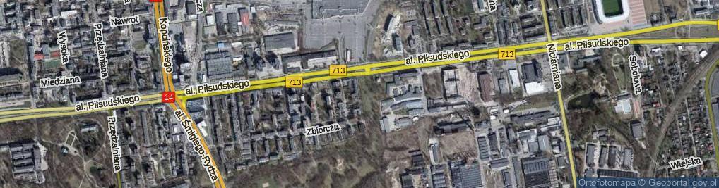 Zdjęcie satelitarne Paryska ul.
