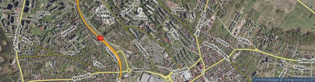 Zdjęcie satelitarne Paderewskiego Ignacego Jana ul.