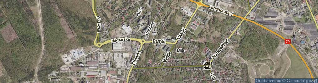 Zdjęcie satelitarne Partyki Henryka ul.