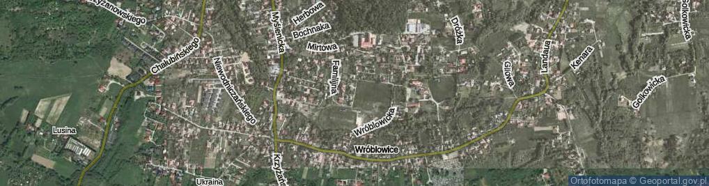 Zdjęcie satelitarne Parafialna ul.