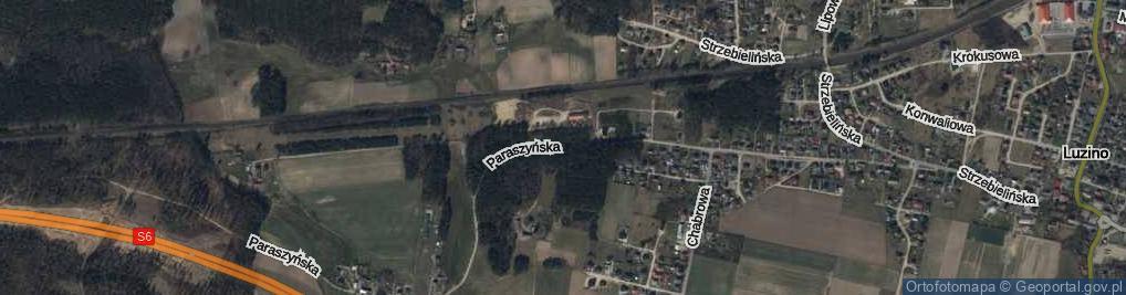 Zdjęcie satelitarne Paraszyńska ul.