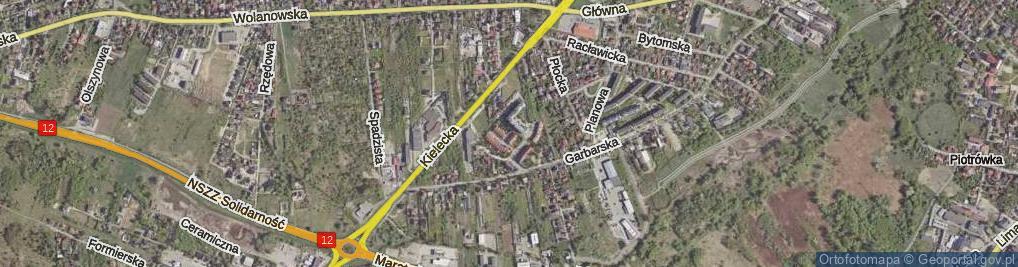 Zdjęcie satelitarne Pamięci Katynia ul.