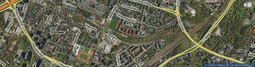 Zdjęcie satelitarne Patriotów ul.