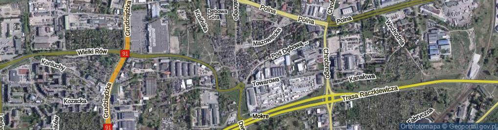 Zdjęcie satelitarne Pałubickiego Jana, ppłk. ul.