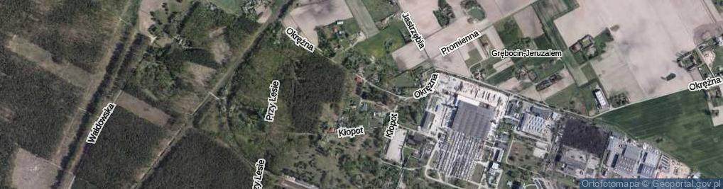 Zdjęcie satelitarne Papowska ul.