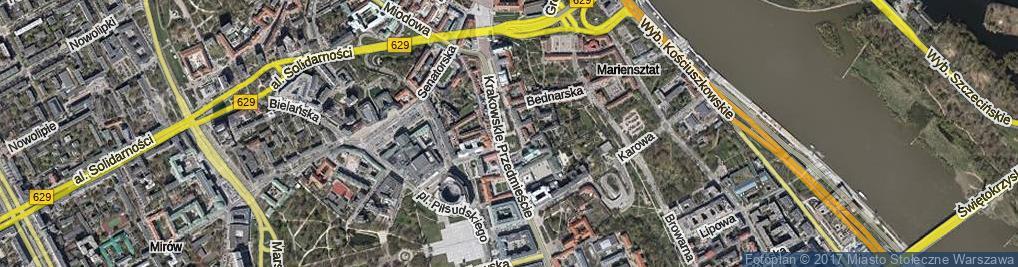 Zdjęcie satelitarne Pasaż Niezależnego Zrzeszenia Studentów ul.