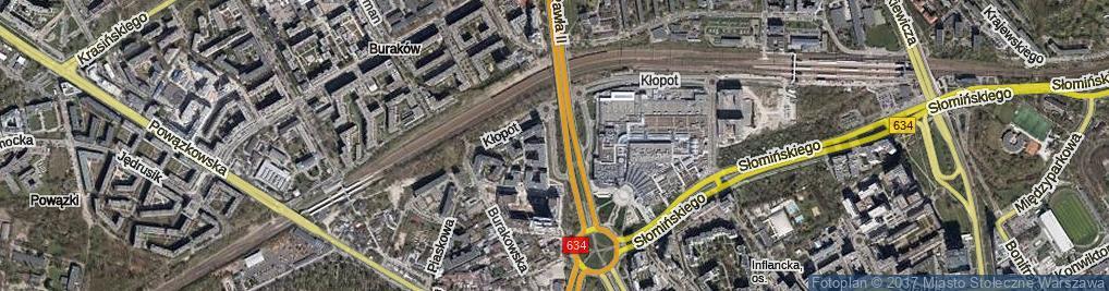Zdjęcie satelitarne Parysowska ul.
