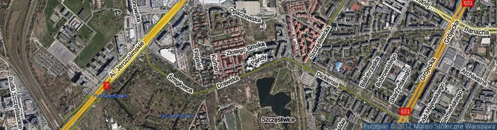 Zdjęcie satelitarne Pandy ul.