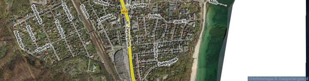 Zdjęcie satelitarne Perkuna ul.