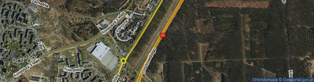 Zdjęcie satelitarne Peszkowskiego Zdzisława, ks. rtm. ul.
