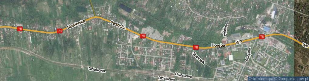 Zdjęcie satelitarne Pędzicha Franciszka, ks. ul.