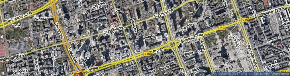 Zdjęcie satelitarne Pereca Icchaka Lejba ul.