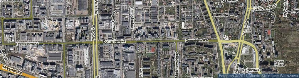 Zdjęcie satelitarne Pęcherska ul.
