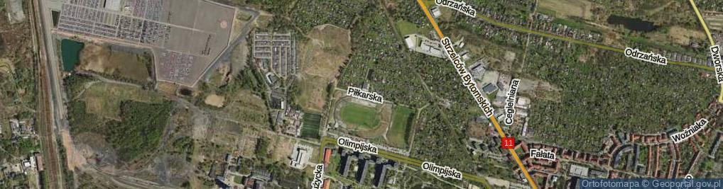 Zdjęcie satelitarne Piłkarska ul.