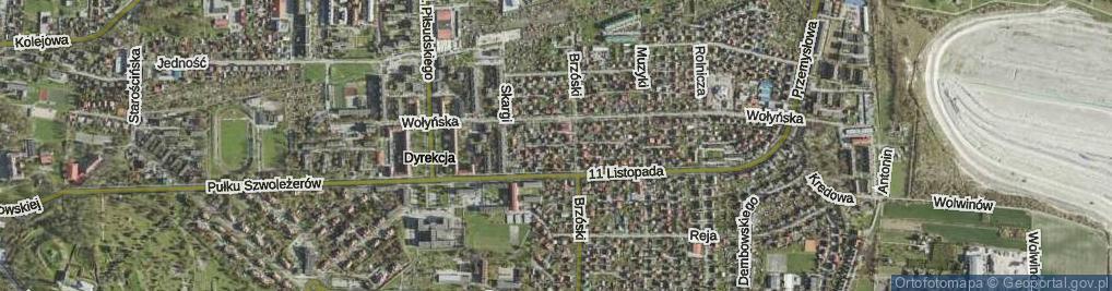 Zdjęcie satelitarne Pierackiej Kazimiery ul.