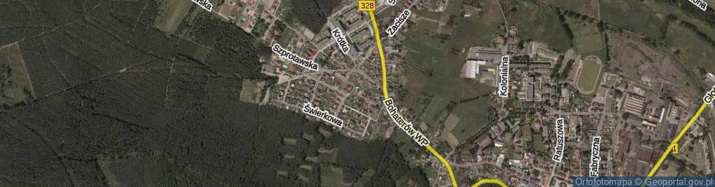 Zdjęcie satelitarne Piotrowska ul.