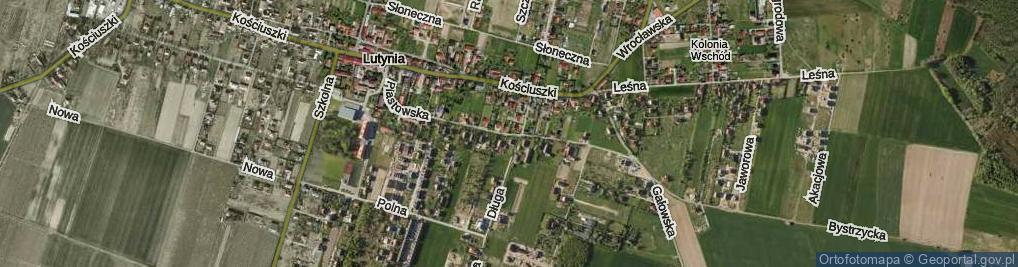 Zdjęcie satelitarne Piastowska ul.