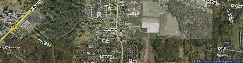 Zdjęcie satelitarne Piusa ul.
