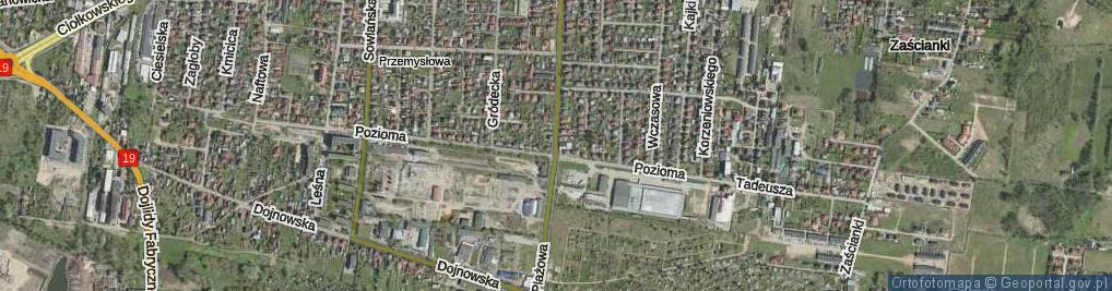Zdjęcie satelitarne Plażowa ul.