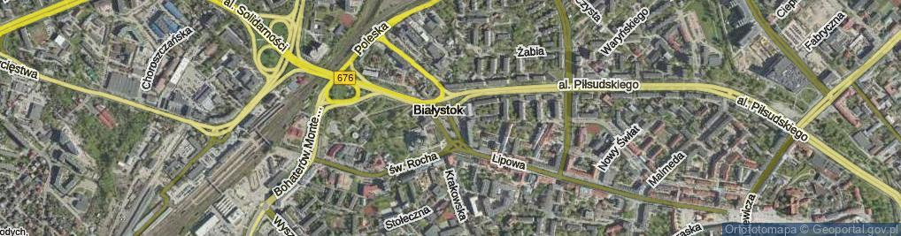 Zdjęcie satelitarne Plac Niepodległości im. Romana Dmowskiego pl.