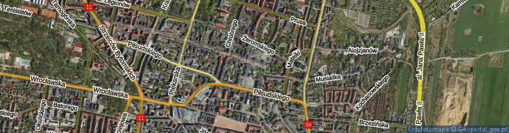 Zdjęcie satelitarne Plac Hiolskiego Andrzeja pl.