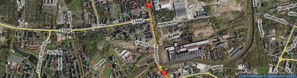Zdjęcie satelitarne Plac Powstańców Śląskich pl.