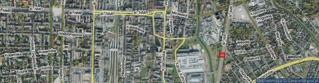 Zdjęcie satelitarne Plac Papieża Jana Pawła II pl.