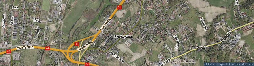 Zdjęcie satelitarne Plebiscytowa ul.