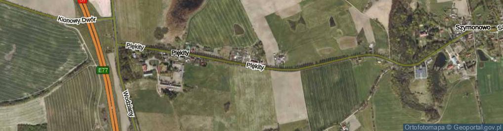 Zdjęcie satelitarne Plękity ul.