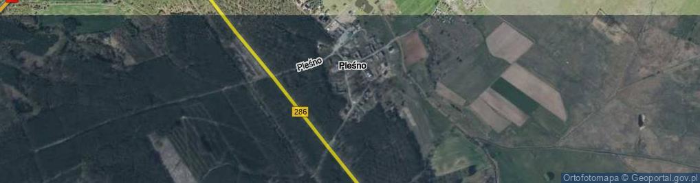 Zdjęcie satelitarne Pleśno ul.