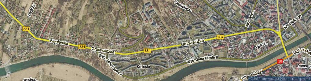 Zdjęcie satelitarne Płowiecka ul.
