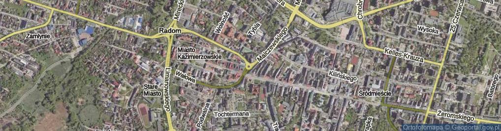 Zdjęcie satelitarne Plac Kazimierza Wielkiego pl.