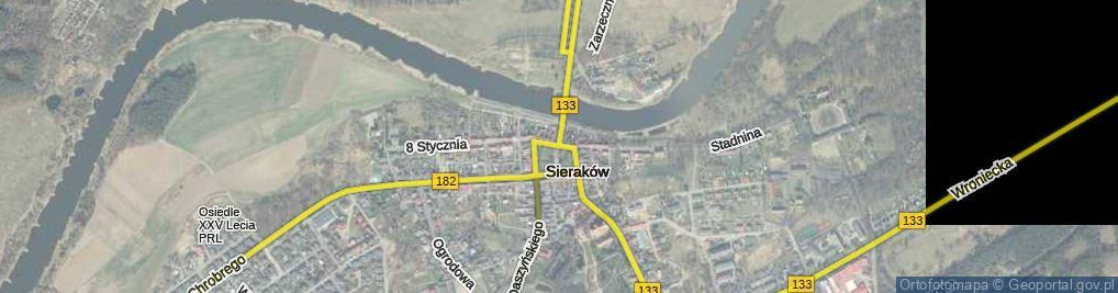 Zdjęcie satelitarne Plac Powstańców Wielkopolskich pl.