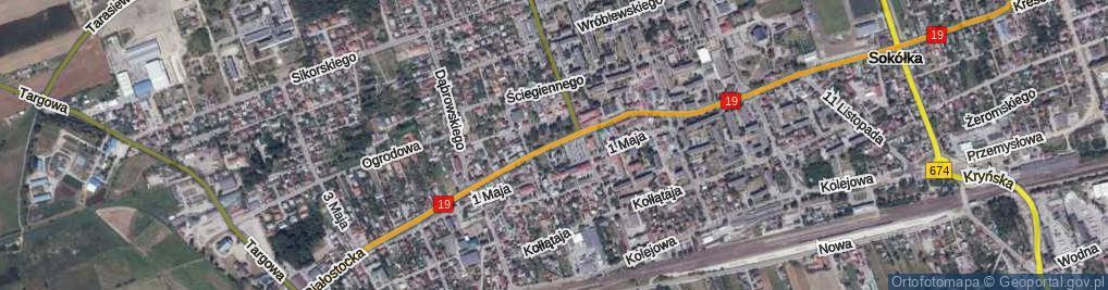 Zdjęcie satelitarne Kościuszki, pl. pl.