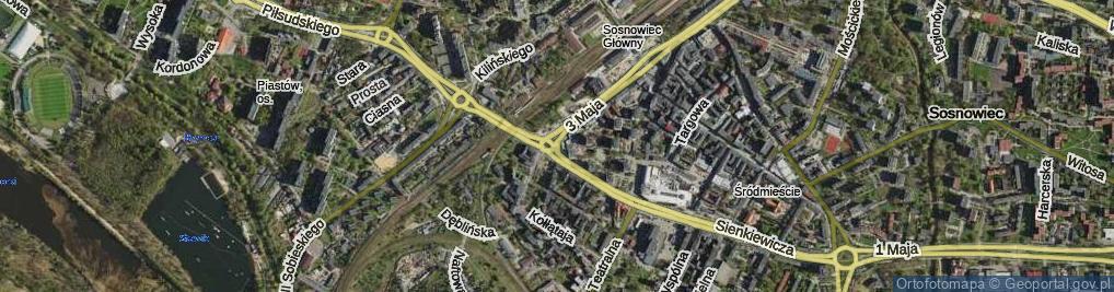Zdjęcie satelitarne Plac Ćwierka Konstantego pl.