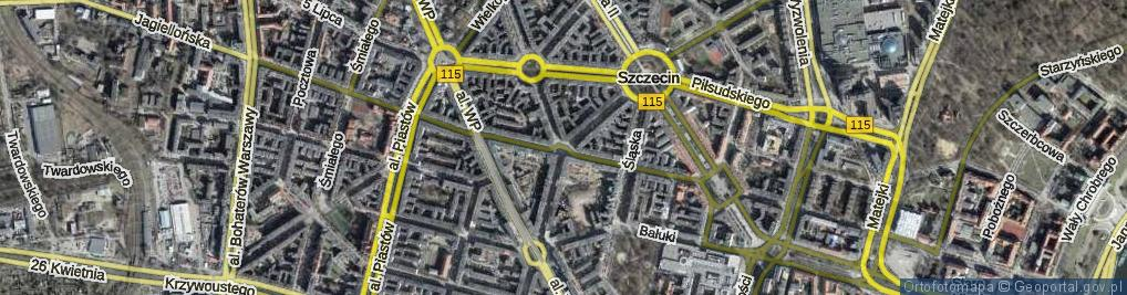 Zdjęcie satelitarne Plac Zamenhofa Ludwika, dr. pl.