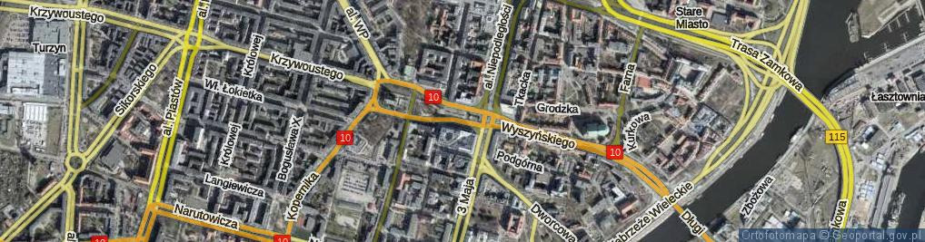 Zdjęcie satelitarne Plac Brama Portowa pl.