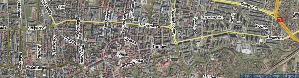 Zdjęcie satelitarne Plac Więźniów KL Auschwitz pl.