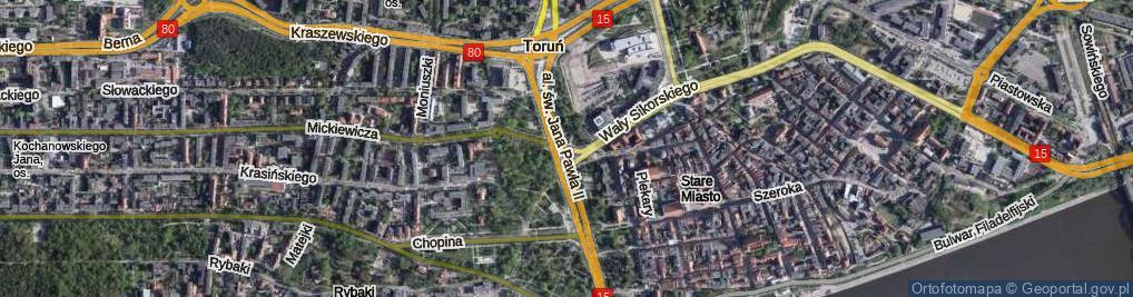 Zdjęcie satelitarne Plac Artylerii Polskiej pl.