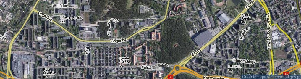 Zdjęcie satelitarne Plac Frelichowskiego Stefana Wincentego, bł. ks. phm. pl.
