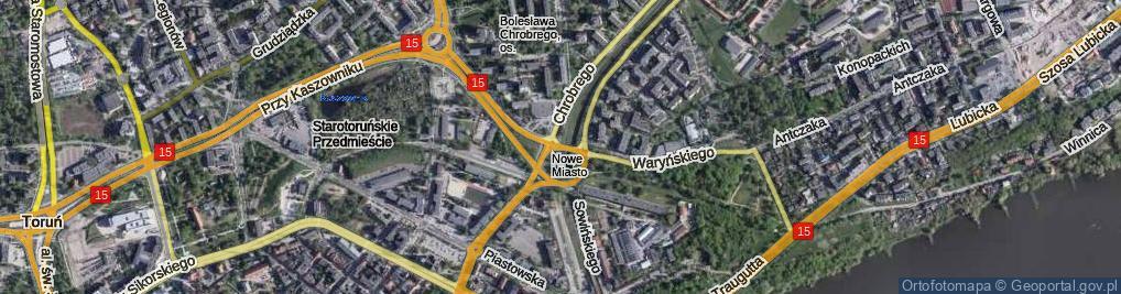 Zdjęcie satelitarne Plac Pokoju Toruńskiego pl.
