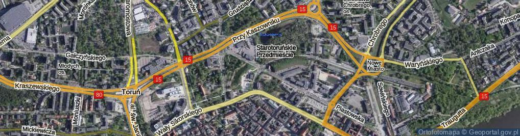 Zdjęcie satelitarne Plac Związku Nauczycielstwa Polskiego pl.