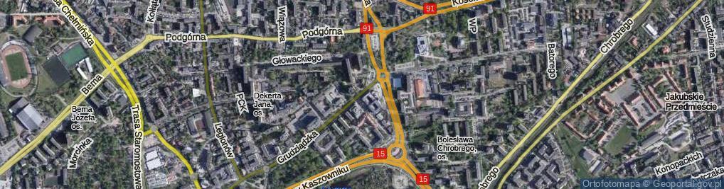 Zdjęcie satelitarne Plac Zwycięstwa pl.