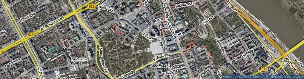Zdjęcie satelitarne Plac Piłsudskiego Józefa, marsz. pl.