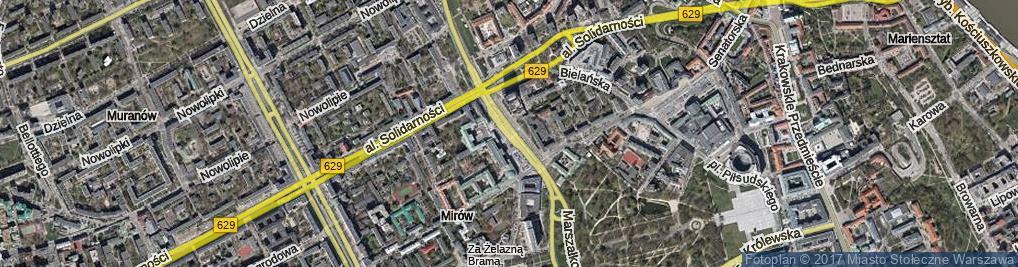 Zdjęcie satelitarne Plac Bankowy pl.