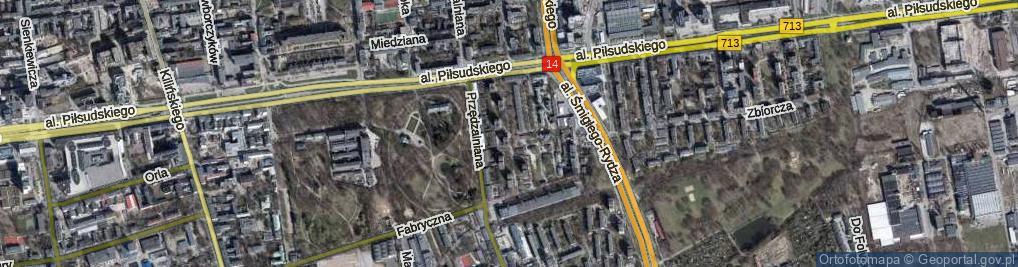 Zdjęcie satelitarne Popowskiego Stanisława ul.