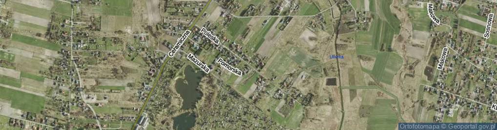 Zdjęcie satelitarne Poleska ul.