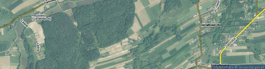 Zdjęcie satelitarne Pod Lasem ul.