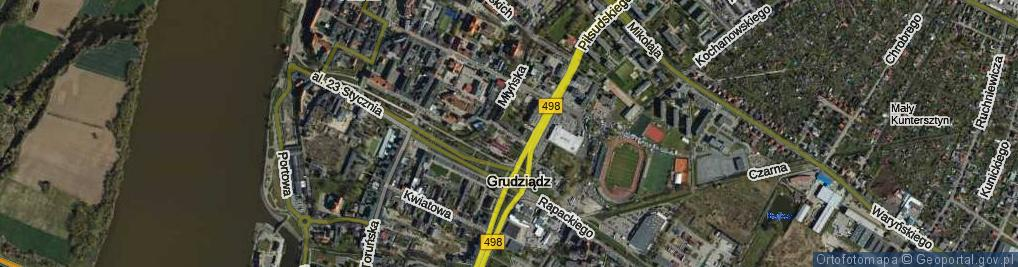 Zdjęcie satelitarne Polskiego Czerwonego Krzyża ul.